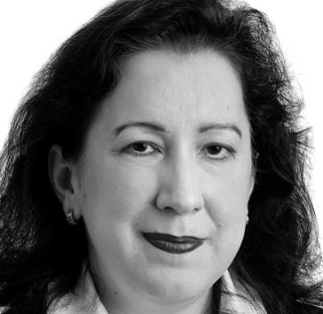 Foto von Martina Hofer-Moreno in schwarz-weiß
